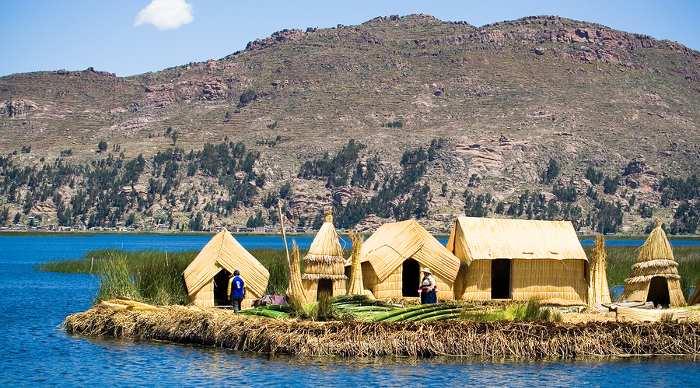 Lake Titicaca, Uros Floating Islands, Puno, Peru