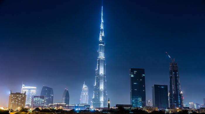 Dubai Panorama And Burj Khalifa