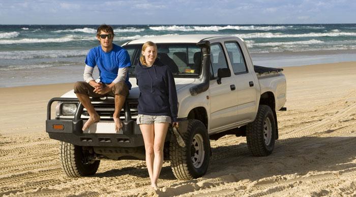 4WD exploration Fraser Island