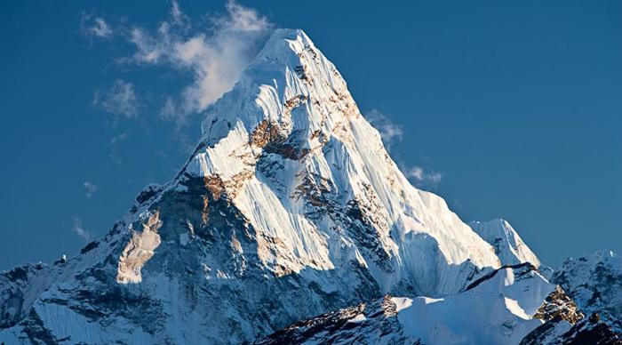 Climbing Ama Dablam peak