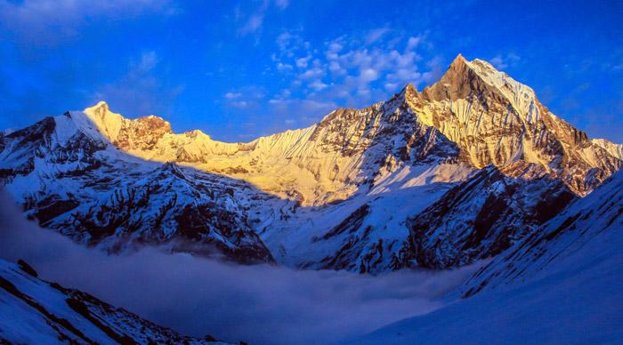 Mt. Annapurna as seen from Annapurna Base Camp