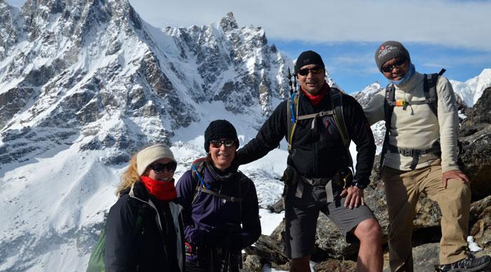 Trekkers in EBC