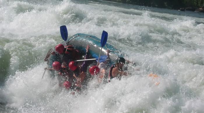 Rafting in Uganda