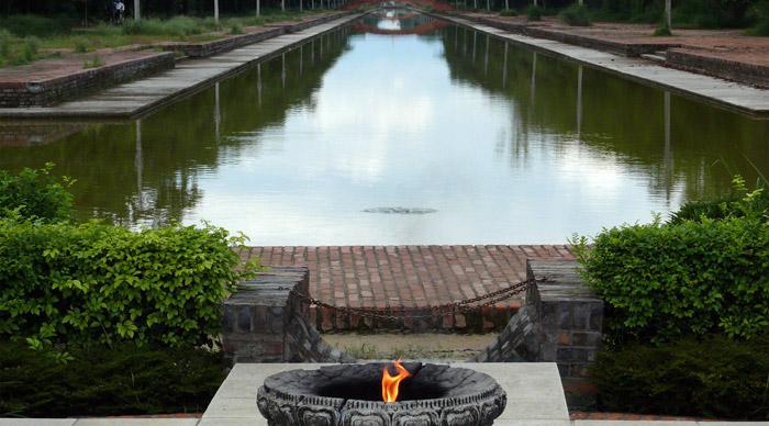 Sacred Flame at Lumbini