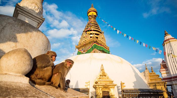 View Of Swayambhunath Kathmandu
