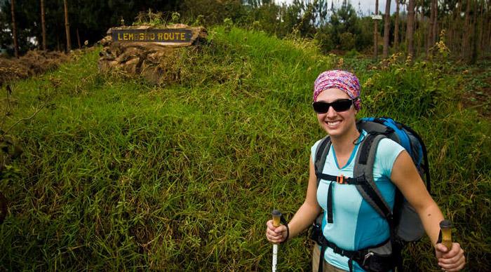 Treller in Lemosho route Kilimanjaro