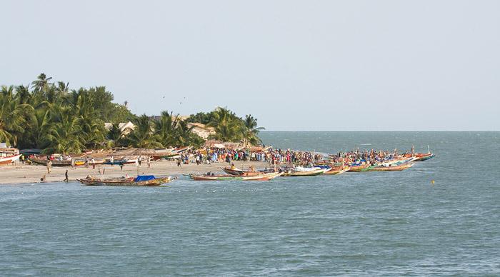 Banjul shore Gambia