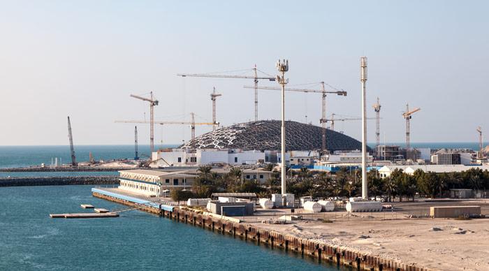 Louvre Abu Dhabi under construction
