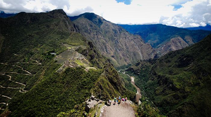 Panorama Machu Picchu view from Huayna Picchu