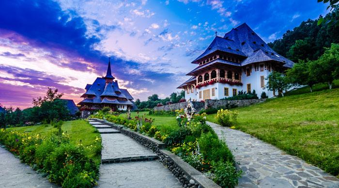 Barsana monastery complex in Maramures