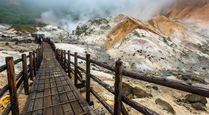 Jigokudani Hell Valley In Noboribetsu, Hokkaido, Japan
