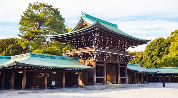 A view of the Meji jingu shrine