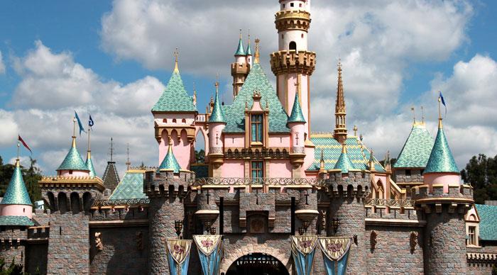 Princess castle in disneyland Los Angeles, California