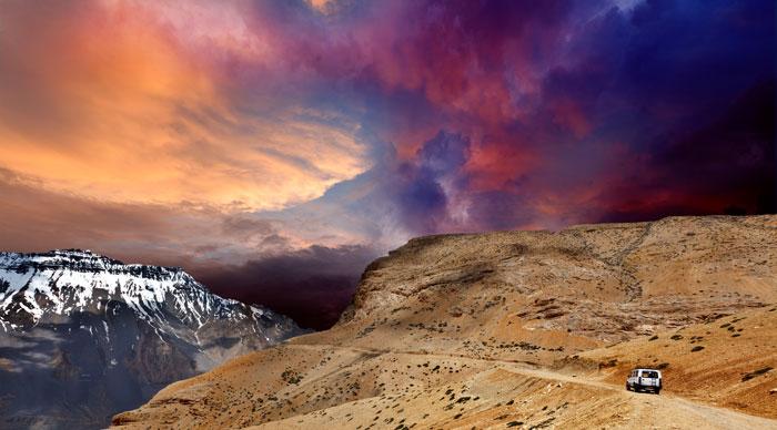 Roads of Spiti Valley,