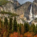 Yosemite Falls in autumn