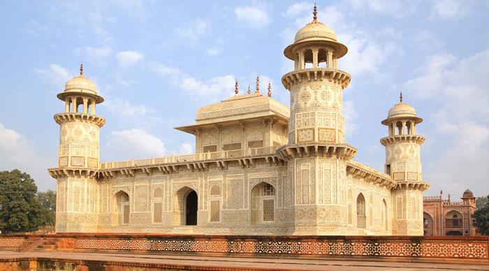Itmad-ud-Daula's Tomb is a Mughal mausoleum. Agra, India