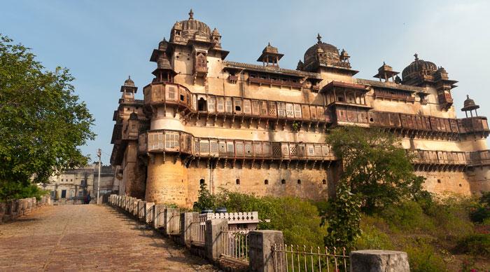Jahangir Mahal or Orchha Palace in Orchha. Madhya Pradesh. India