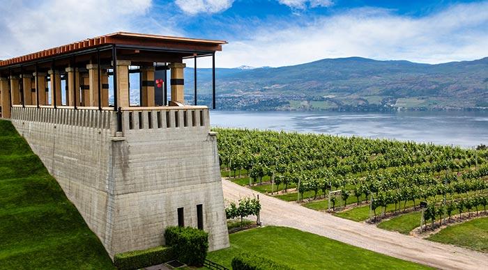 Okanagan wine valley in British Columbia Canada
