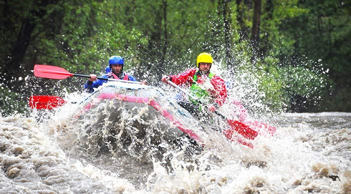 Extreme rafting in Karnali river in Nepal