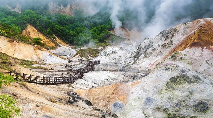 Jigokudani Hell Valley in Hokkaido Japan