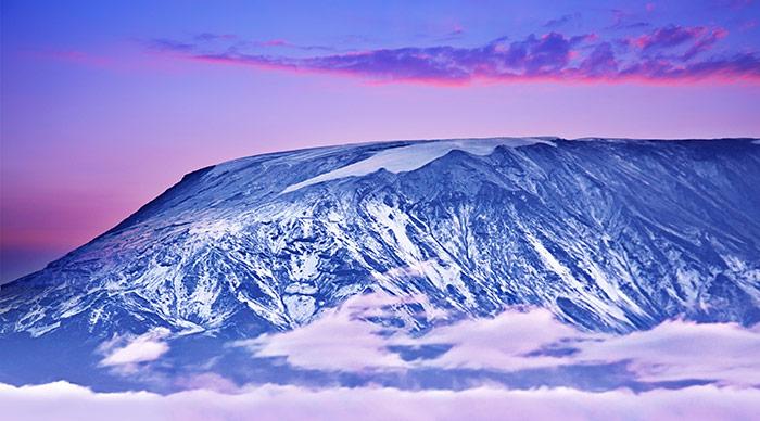 Evening view of Mount Kilimanjaro
