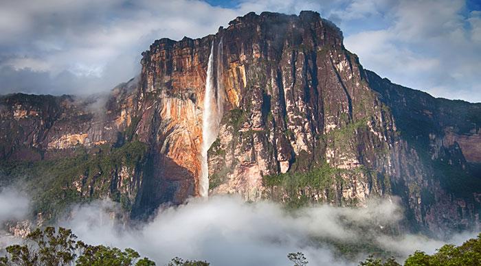 Highest waterfall in the world - Angel Falls in Venezuela