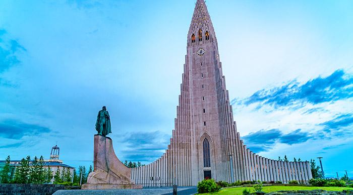 Hallgrimskirkja a Lutheran Church located in the city of Reykjavík in Iceland