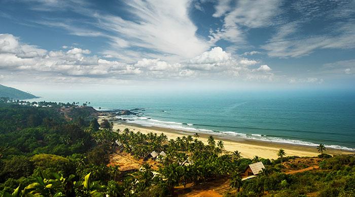 Beautiful view of Goa beach