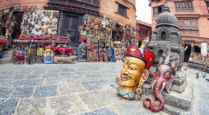 Souvenir shops in Kathmandu valley Nepal